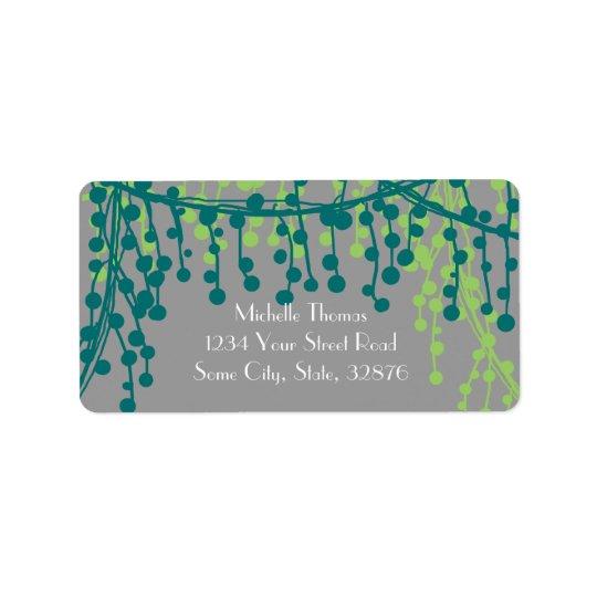 Jade and Grey Return Address Label
