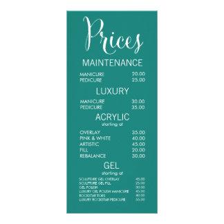 Jade Beauty Salon Menu Price List Cards