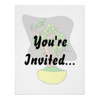 Jade Bonsai in Yellow Pot Invitation