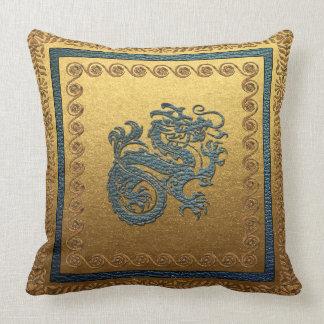 """Jade Dragon 2  Throw Pillow, w 20"""" x 20"""" Cushion"""