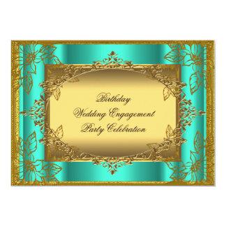 Jade Gold Birthday Wedding Engagement TEMPLATE 13 Cm X 18 Cm Invitation Card