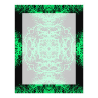 Jade Green and Black Elegant Pattern. 21.5 Cm X 28 Cm Flyer