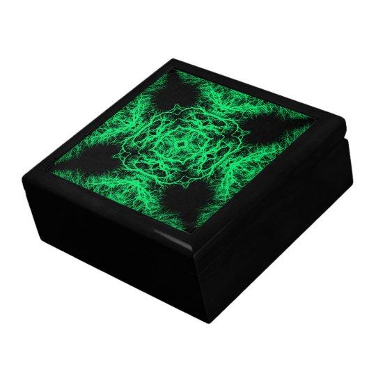 Jade Green and Black Elegant Pattern. Gift Box