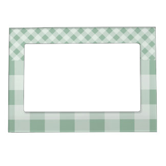 Jade Green Gingham Magnetic Frames