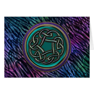 Jade Green Metal Celtic Knot Card