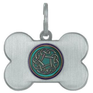 Jade Green Metal Celtic Knot Pet ID Tag