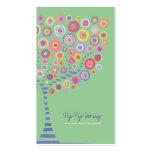 Jade Green Retro Circle Tree Online Store Card
