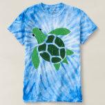 Jade Green Sea Turtle Mosaic Artwork T-Shirt