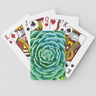 Jade Green Succulent Playing Cards