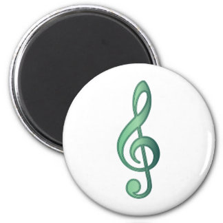 Jade Green Treble Clef Fridge Magnets