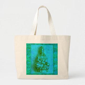Jade Kwan Yin Large Tote Bag