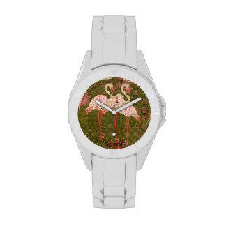 Jade & Pink Flamingos Watch