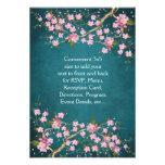 Jade Pink Japanese Cherry Blossoms Wedding Personalised Invitation