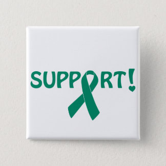 Jade Ribbon Support! 15 Cm Square Badge