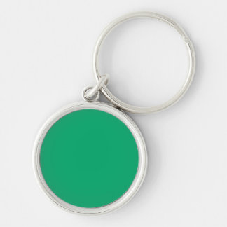 Jade Solid Color Silver-Colored Round Key Ring
