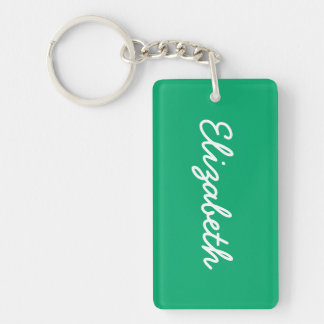 Jade Solid Color Double-Sided Rectangular Acrylic Key Ring
