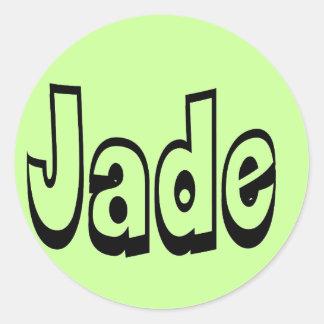 Jade Round Stickers