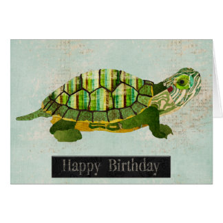 Jade Turtle  Birthday Card