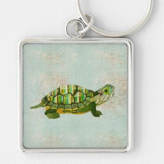 Jade Turtle Keychain