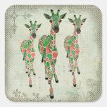 Jaded Blush Giraffes Sticker