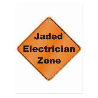 Jaded Electrician Postcard