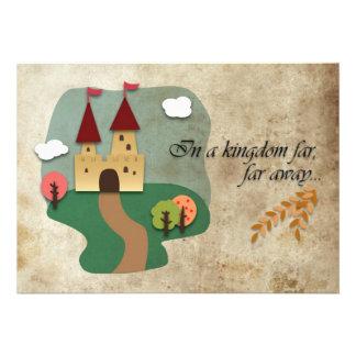 Jaded Fairy Tale Castle Wedding Invitation