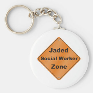 Jaded Social Worker Basic Round Button Key Ring