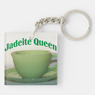 Jadeite Queen Double-Sided Square Acrylic Key Ring
