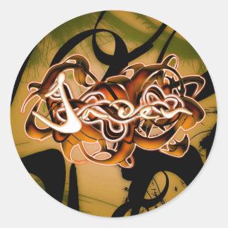 Jaden Round Sticker