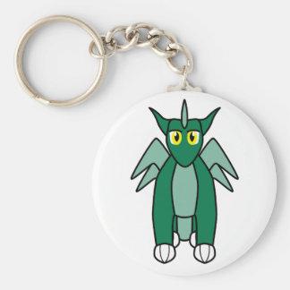 Jaderu the Emerald Dragon Basic Round Button Key Ring