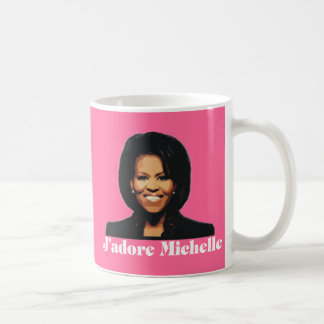 J'adore Michelle coffee Mug in Strawberry Pink