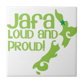 JAFA Loud and proud! (New Zealand Auckland) Small Square Tile