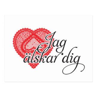 jag älskar dig (Swedish) Postcard