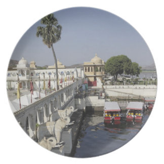 Jag Mindar Palace, Lake Pichola, Udaipur, India. Party Plate