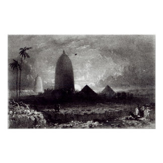 Jagannath Temple, engraved by A. Picken, 1837 Poster