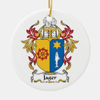 Jager Family Crest Round Ceramic Decoration