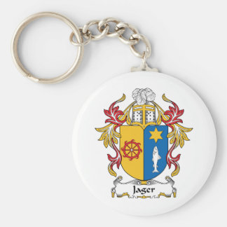 Jager Family Crest Basic Round Button Key Ring