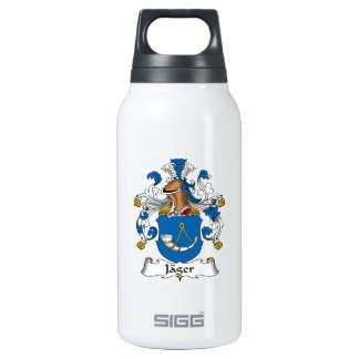 Jager Family Crest 10 Oz Insulated SIGG Thermos Water Bottle