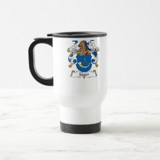 Jager Family Crest Stainless Steel Travel Mug
