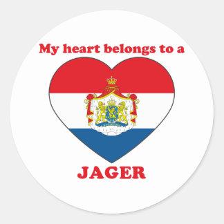 Jager Round Sticker