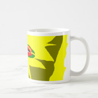 Jagged colour basic white mug