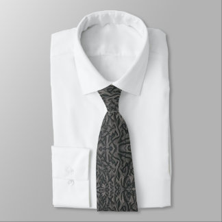 """""""Jagged Curves"""" Men's Abstract Tie"""