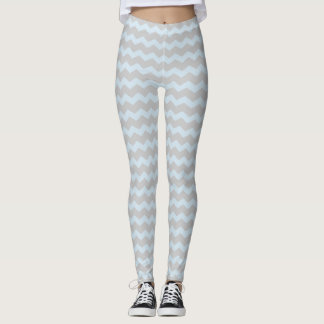 Jagged Little Chevron Leggings powder blue