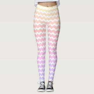 Jagged Little Chevron Leggings Rainbow