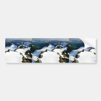 Jagged Mountain Peaks - Aerial View Bumper Sticker