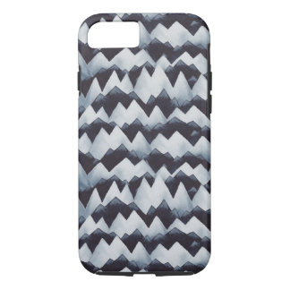 Jagged Mountains Pattern Watercolor iPhone Case