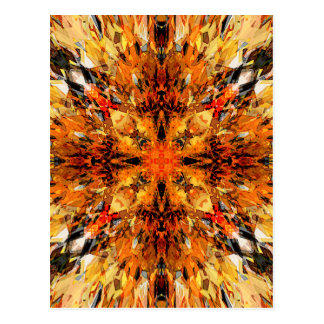 Jagged Orange Mandala Postcard