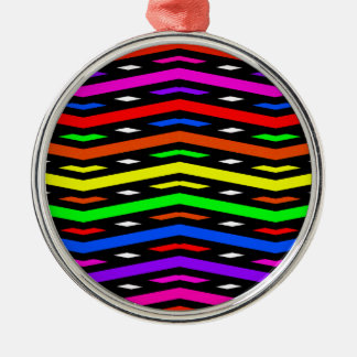 Jagged Waves Abstract Multi Christmas Ornament