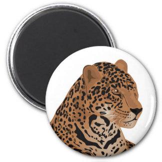 jaguar 6 cm round magnet