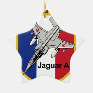 Jaguar A Franzosische Luftwaffe Aufnaher Abzeichen Double-Sided Star Ceramic Christmas Ornament